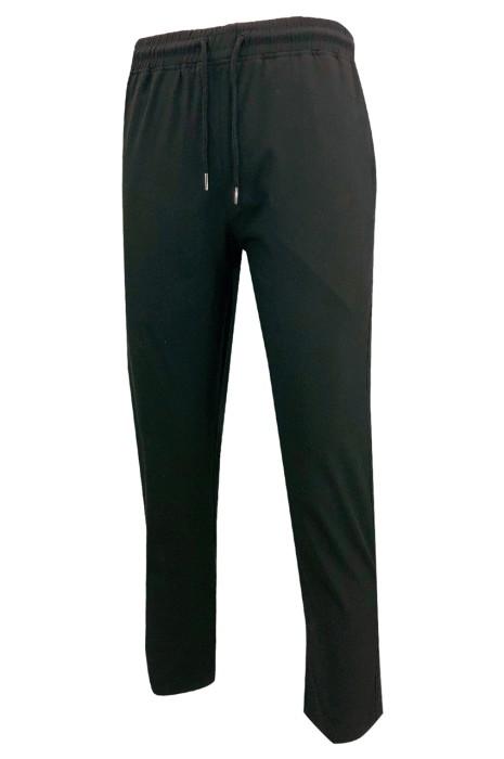 U379   訂做純黑色運動褲   設計橡筋褲頭    後面設有拉鏈褲袋   側邊設有拉鏈褲袋