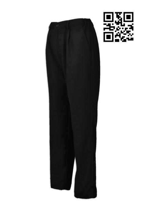 H221 供應廚師黑色斜褲  設計餐廳工作褲  腰側橡筋 網上下單黑色斜褲 斜褲hk專營