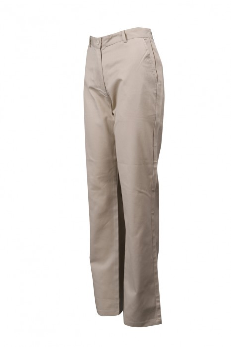 H231 設計卡其色女款工作斜褲  128*60 全棉紗卡  JAS  斜褲供應商