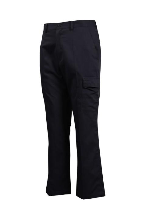H233 製作多袋款工作斜褲 微喇叭褲 斜褲生產商