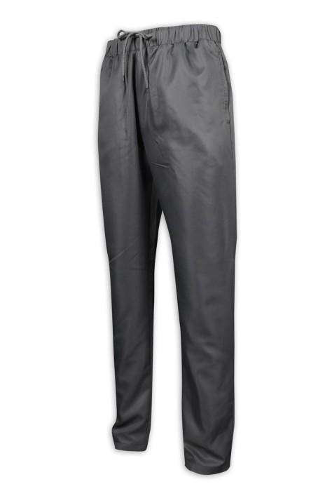 H237 訂造淨色長褲工裝褲 鬆緊褲頭 全橡筋 束繩 斜褲製衣廠