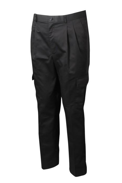 H239 製作脾袋款工作斜褲 設計直腳褲款  斜褲專門店 黑色  凡立丁
