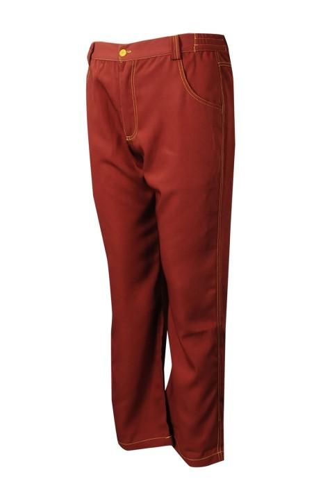 H242   大量訂製直筒復古紅斜褲  自訂休閒長褲斜褲  斜褲供應商