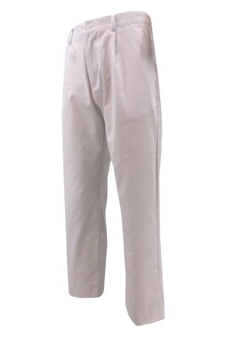 訂製純白色斜褲    腰側橡筋 設計  法式零錢袋設計   H246
