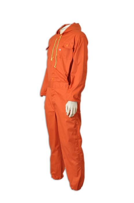 D137專做工業制服  大量訂購團體連體工裝   雙胸袋 設計工業制服款式  制服專門店HK