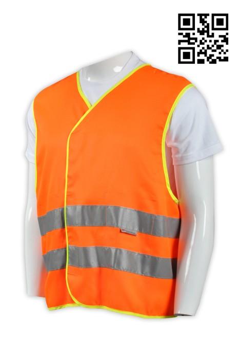 D170工業背心外套 反光背心外套 工程背心 來樣訂做反光背心外套 自行車反光背心 地盤人員背心 背心外套供應商 反光背心外套生產商