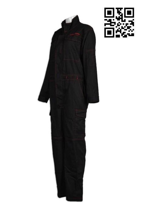 D187訂購連體工作服   供應純色工業制服  連體工作服 阻燃制服 網上下單工業制服  工業制服供應商 連身工人褲  夾乸衣 蛤乸衣 甲乸衣