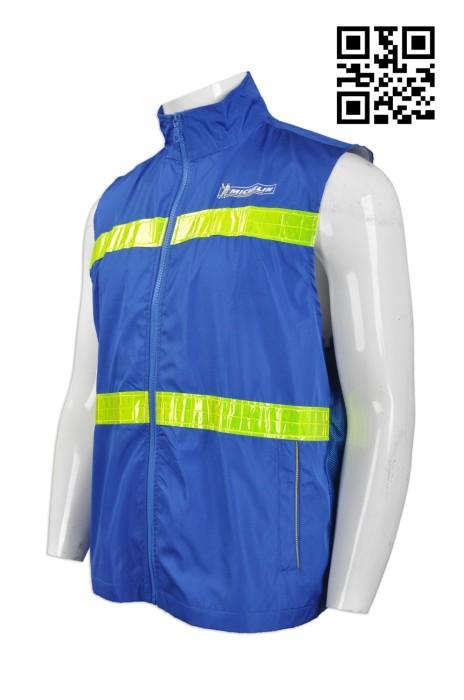 D203  設計反光條背心外套  網上下單工業制服   螢光黃反光帶 輪胎員工 個人防護裝備 度身訂造工業制服 工業制服專門店