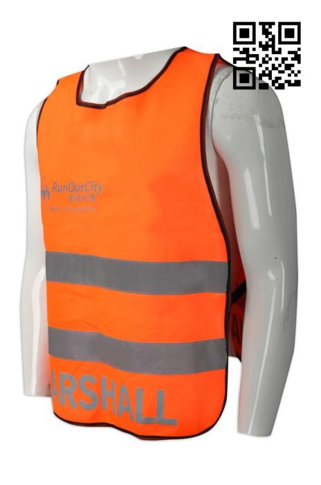 D216  設計logo分隊背心  訂購反光帶工業背心  街馬 馬拉鬆工作人員背心 龜背 製造安全背心  工業背心製造商