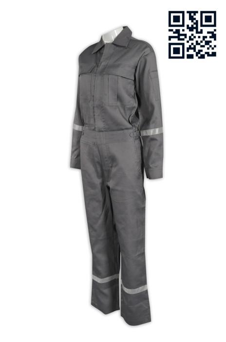 D181供應連身工業制服 反光 設計專業工業制服 網上下單工業制服 連體工作服 幼帶反光帶 工業制服製造商 連身工人褲  夾乸衣 蛤乸衣 甲乸衣