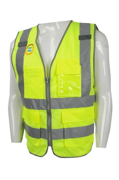 D257 訂做度身工業制服款式    自訂反光背心工業制服款式   防污泥 戶外路政 工程   工業制服生產商
