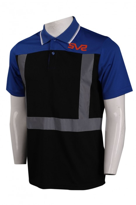 D272 訂造撞色Polo恤  HK 工業制服製衣廠
