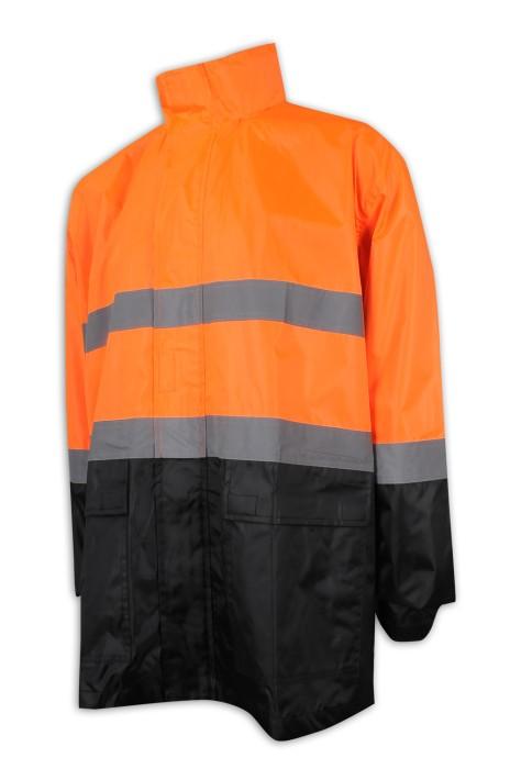 D294 訂做螢光工業制服外套 長身款 防污泥 戶外路政 工程 工業制服專門店