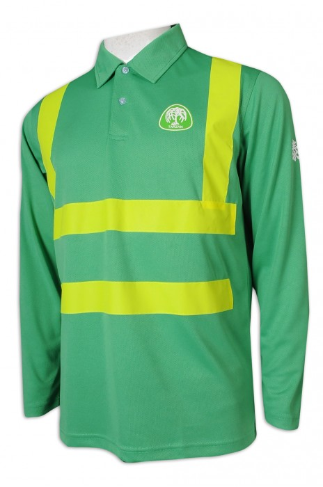 D313 訂造長袖工業制服 螢光帶 種植 樹木 農業護理 工業制服專門店