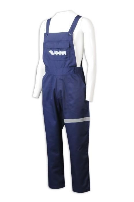 D339  訂製工人制服 製造工業背帶褲 吊帶工人褲  吊帶褲 工業制服供應商 連身工人褲 夾乸衣 蛤乸衣 甲乸衣