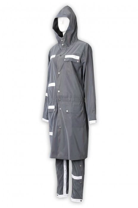 D343  訂製防水防風工業制服   設計繡花LOGO   100%滌   反光布  反光大衣  反光褲   防水工作服   連帽工作服