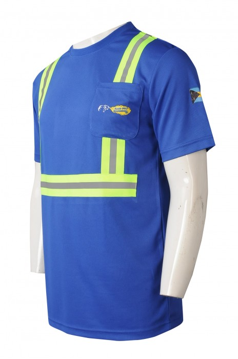 D347    訂做T恤工業制服    設計熒光反光帶   印花logo   製造業   工業制服中心  工業制服設計公司   巴拿馬