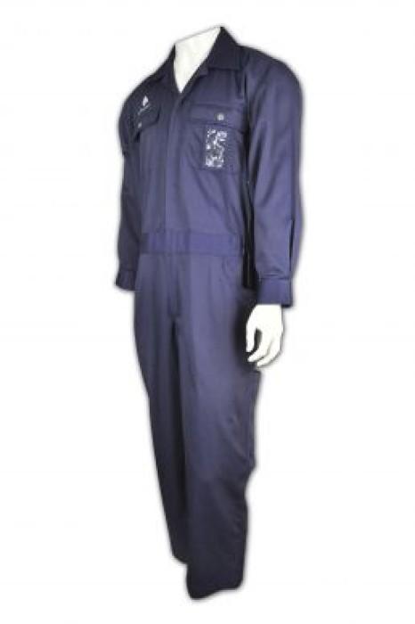 D106 訂做工業制服  來樣訂購員工制服  雙胸袋 自訂制服套裝 製衣工業制服中心HK