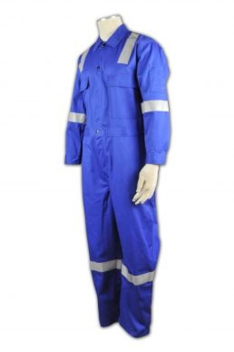 D107 訂造員工套裝制服 訂購團體制服中心  雙胸袋 設計工業制服款式  訂做制服供應商HK