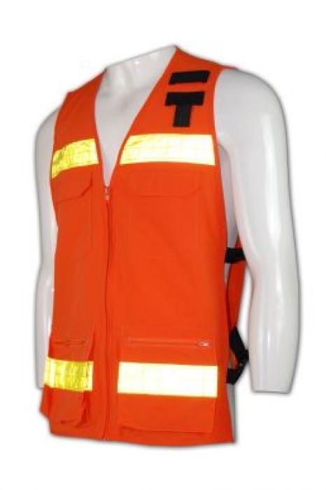 D113 訂造反光戶外背心 訂購優惠夜間工作背心  反光布胸套 設計 安全背心供應商 工業背心批發商