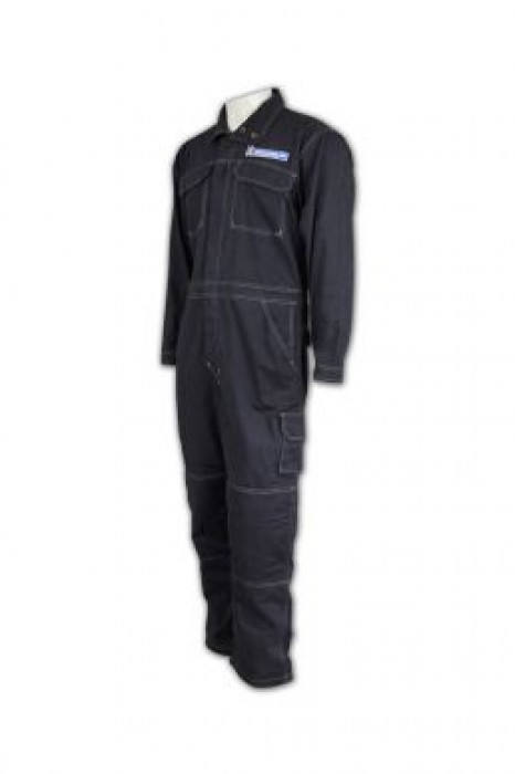D121 訂製職業制服 設計工業制服套裝 雙胸袋 制服工業中心防鋸  igift制服公司生產商
