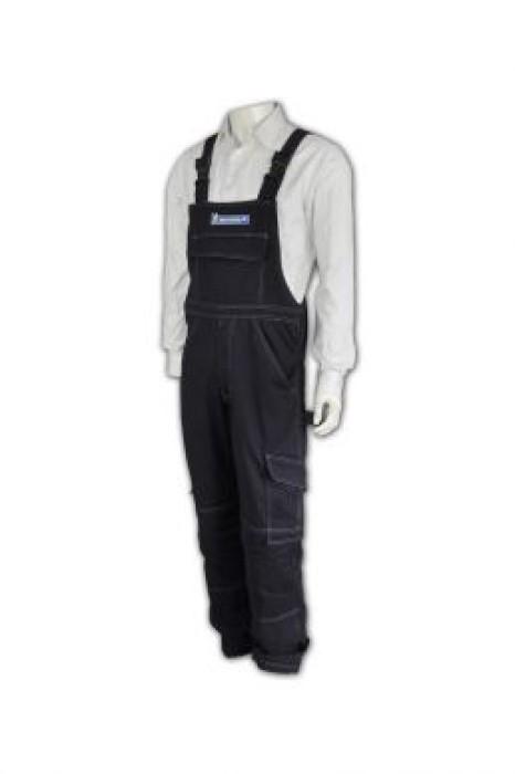 D124 工人服 吊帶工人服 夾乸衣英文 蛤乸衣 吊帶褲  甲乸衣供應商HK