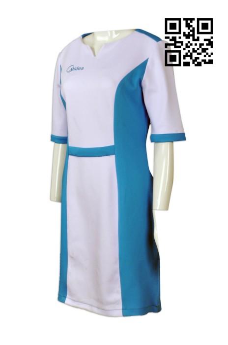 UN164 訂購電器公司制服  度身訂造公司製服  接待員 零售店員 網上下單制服裙  公司製服供應商
