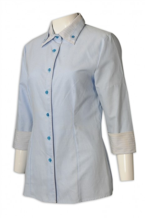 UN171 訂購美容院工作制服 製作水療會所制服  7分袖 制服專門店