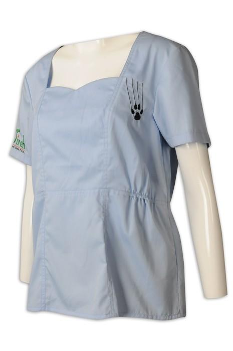 UN174 來樣訂造員工制服 腰部橡筋 網上下單水療會所制服 休閒 會所 制服專門店