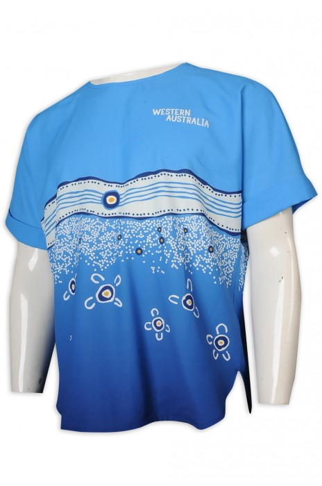 UN177 訂做SPA 員工制服 SPA 服裝 印花 制服供應商