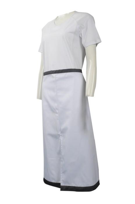 AP112 大量訂做圍裙款式 設計半身圍裙 校工圍裙 訂造淨色圍裙供應商