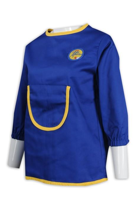 AP136 訂做兒童圍裙 畫廊 魔術貼 後幅 圍裙製衣廠