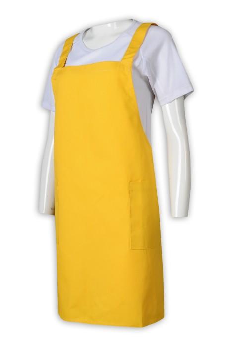 AP153 訂製全身圍裙 熒光黃 72*40 圍裙生產商