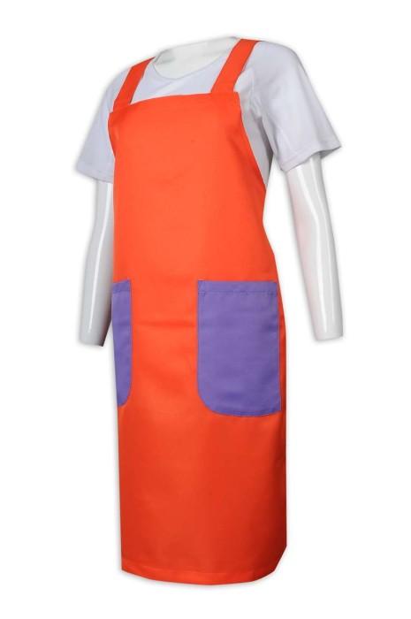 AP154 訂做圍裙 撞色圍裙 筆插設計 圍裙生產商