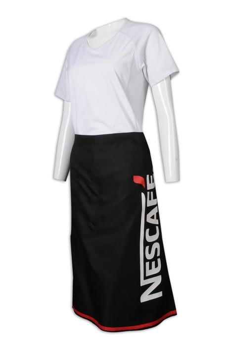 AP159 制訂圍裙 黑色 半身圍裙 Logo 插袋 拼色 圍裙生產商