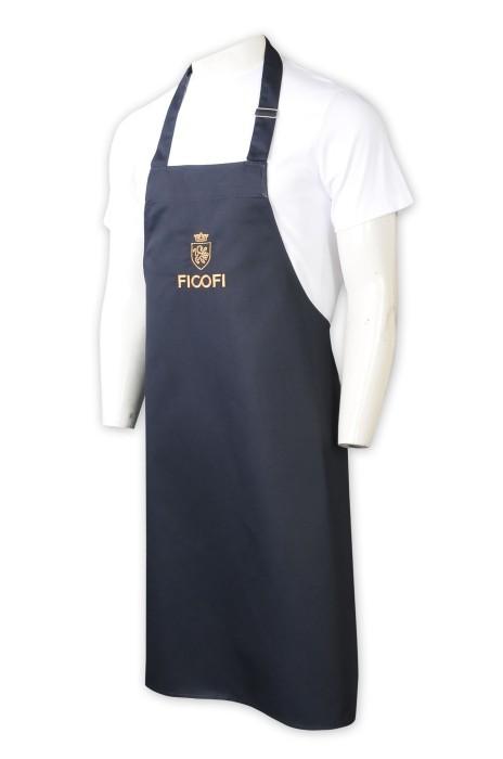 AP169  訂製牛仔布圍裙    設計絲印金色logo   後綁帶   圍裙供應商  連體圍裙  CAFE   餐飲行業