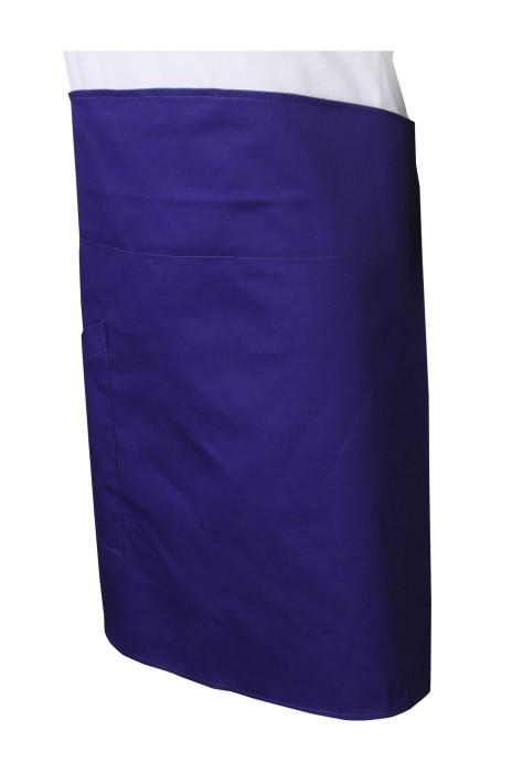 AP170   訂做凈色寶藍色半身圍裙    訂做後綁帶圍裙    圍裙生產商    圍裙專門店   製作圍裙公司   燒肉店