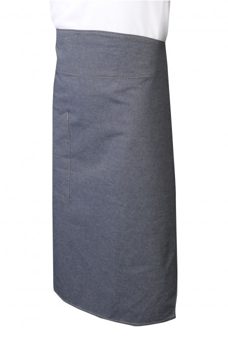 AP172  訂做半身牛仔圍裙   設計側開口袋牛仔圍裙   後綁帶   牛仔圍裙供應商   香港  燒肉店