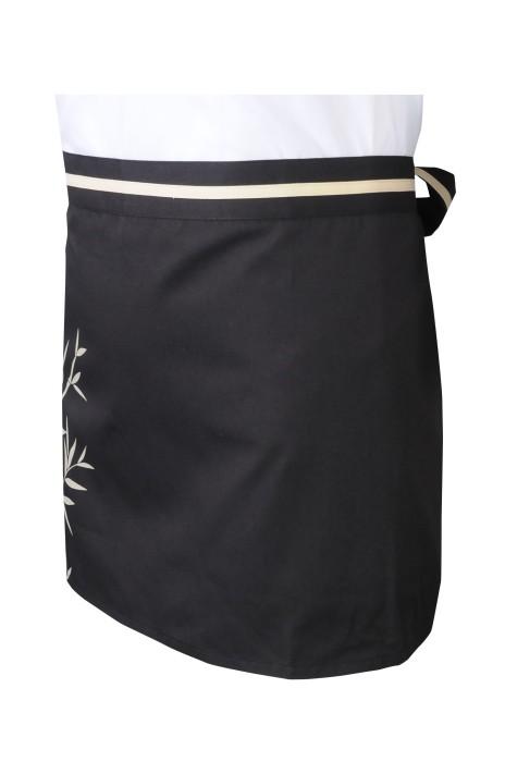 AP173  訂做短圍裙    設計印花logo    後綁帶    網上下單圍裙   製作圍裙供應商