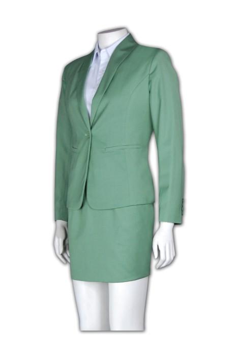 BSW250  西裝套裙 在線訂購 修身短裙套裝款式 正裝西服 套裙西服公司