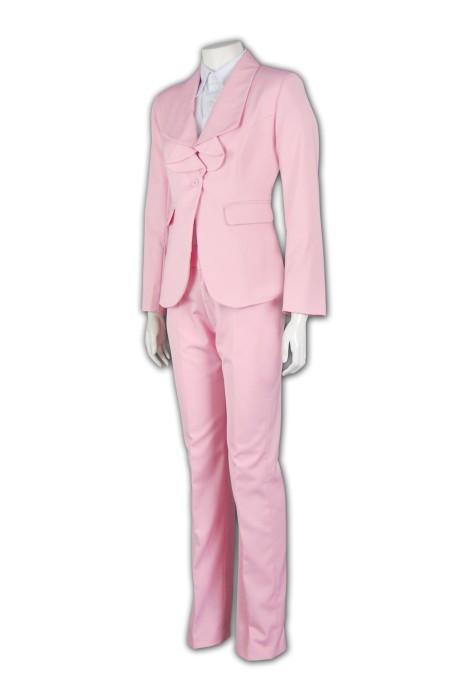 BSW248 訂制女士西服套裝 套裝西服度身訂製 荷葉領款式西裝 西服設計 西服專門店