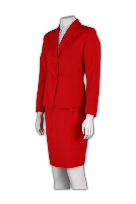 BSW247 自製工作服西裝 修腰中裙套裝款式設計 OL套裙 量身訂做職業裝西裝 西裝公司
