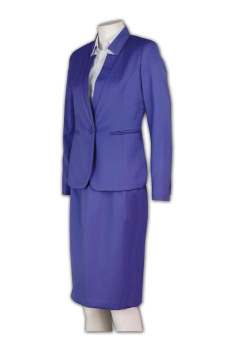 BSW242 訂購商務套裝 上班套裙西裝 OL西裝款式設計 西裝訂造廠家
