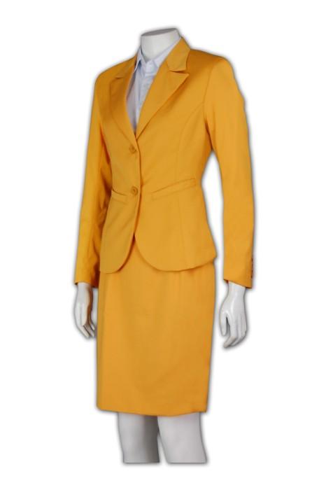 BSW241 OL套裙 來版訂製 翻領修身套裙款式設計 套裙西裝選擇 西裝生產商