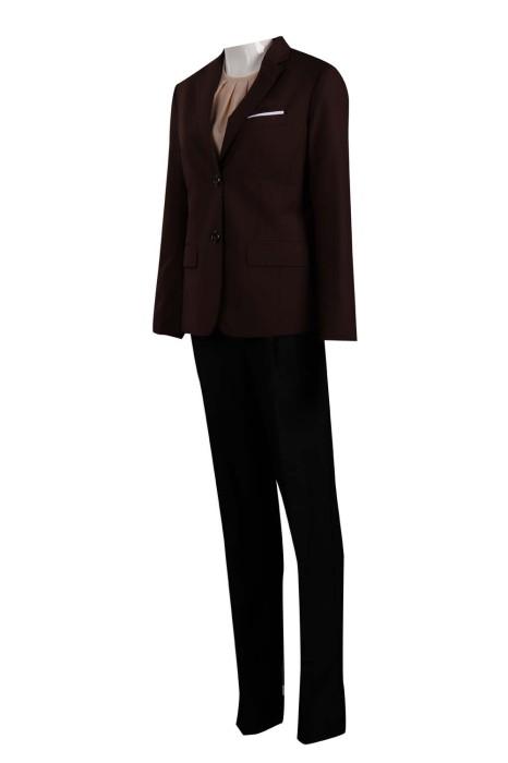 BSW251 設計女款西裝套裝 澳門酒店 管家部女助理 65%滌 35%人造絲 西裝專門店