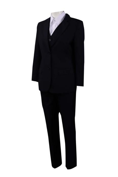 BSW252 訂製女行政套裝 經典商務套裝 澳門酒店 餐廳經理 65%滌 35%人造絲 西裝供應商
