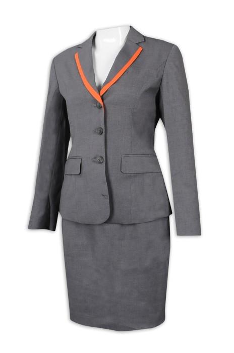 BWS255 製作女西裝套裝 旅遊接待 導遊制服 旅行社制服  訂造西裝款式   西裝專門店