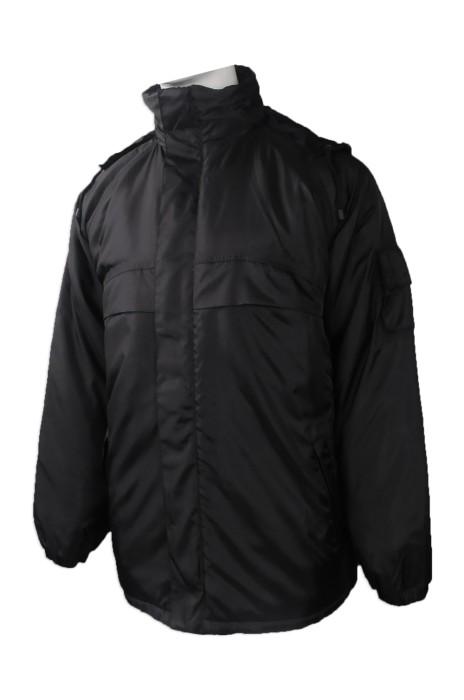SE055 來樣訂做保安制服 網上下單秋冬夾棉保安制服 設計反光帶保安制服供應商