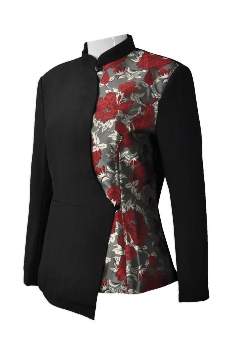 HL010  訂購酒店服務員制服   個人設計家政制服  製造修身女款酒店制服  酒店制服供應商