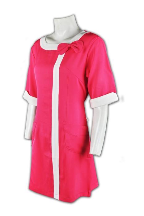 NU012 自訂制服款式 中袖  訂製護士服款式 裙式護士服 護士制服生產商